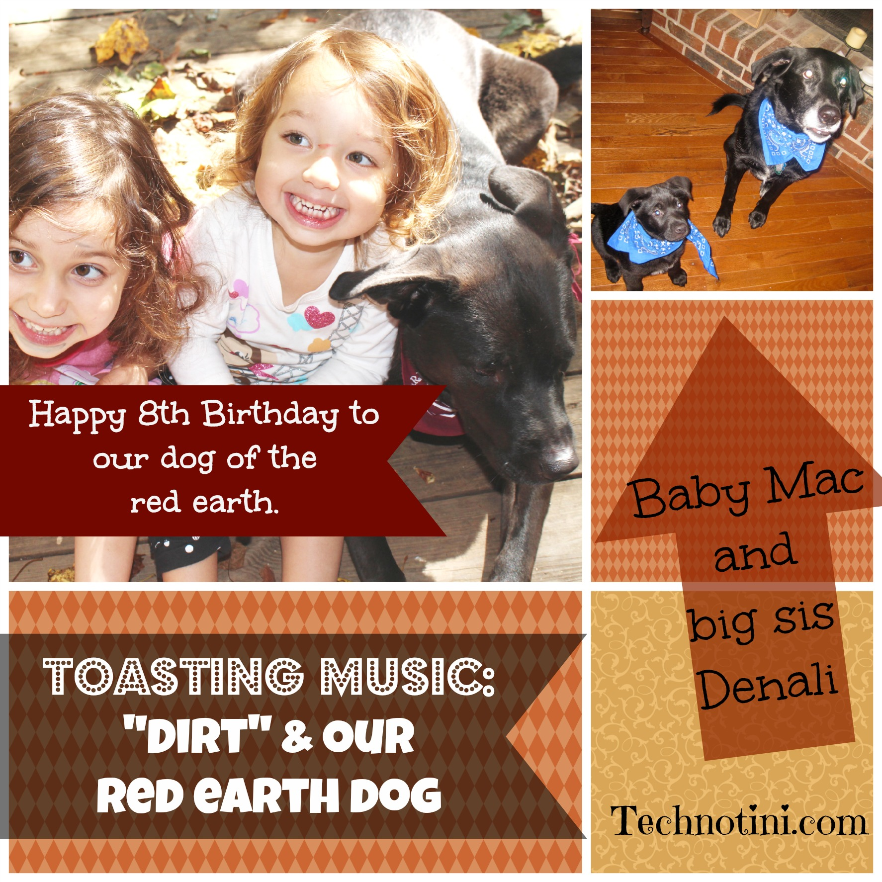 "Toasting Music- ""Dirt"" & our red earth dog"