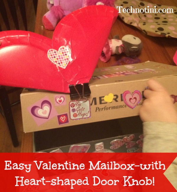 Easy Valentine Mailbox-with Heart-shaped Door Knob! - Technotini