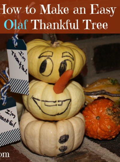 How to Make an Easy Olaf Thankful Tree