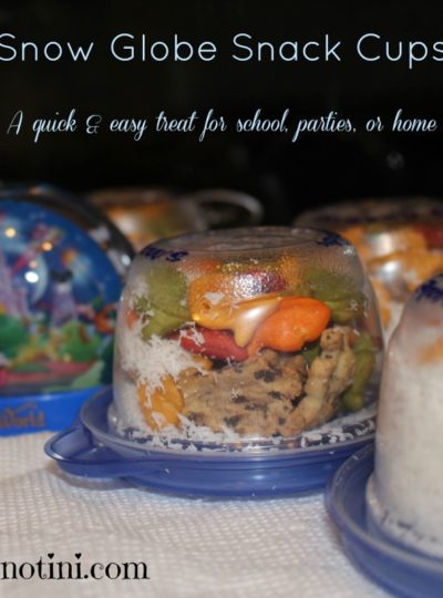 Super Easy Snow Globe Snack Cups