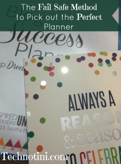 The Fail Safe method to pick the right planner for you!