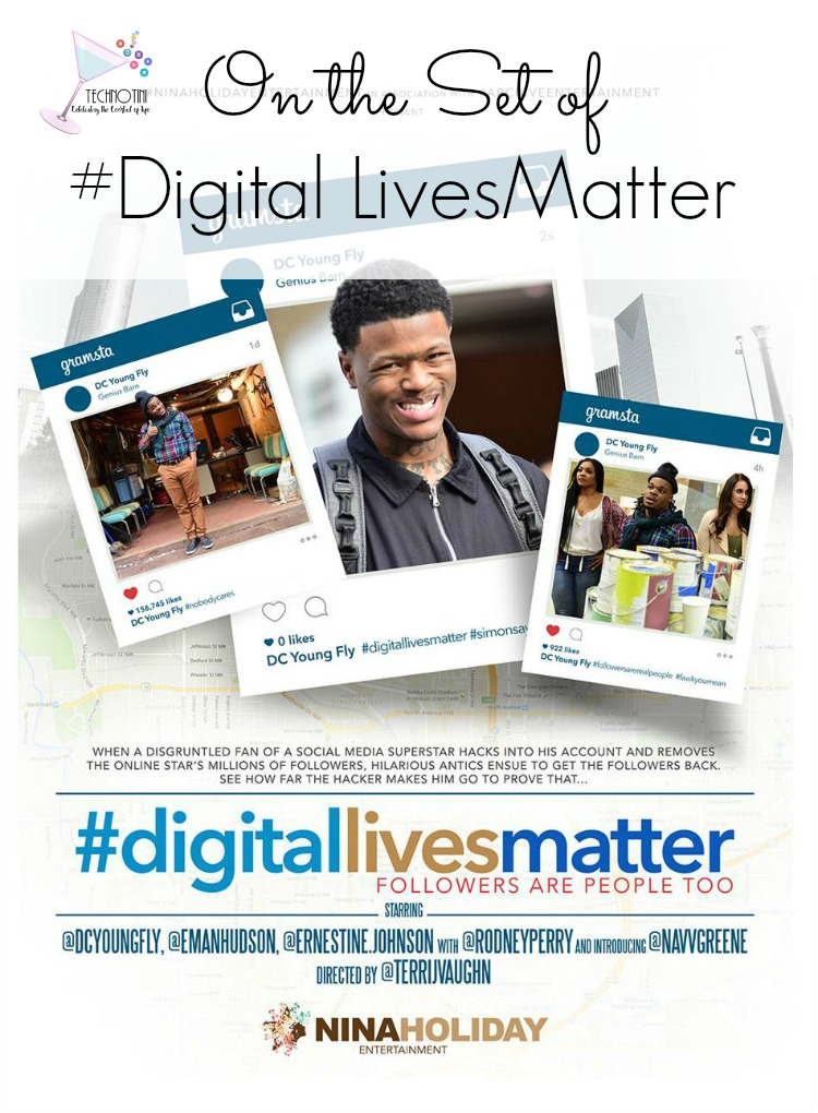 My daughters and I had cameos in the hilarious new comedy #DigitalLivesMatter about a social media star who's account is hijacked (played by@DC YoungFly as himself). He loses all of his 3.5 million followers and has only 24 hours to get them back! I'm taking you behind-the-scenes of the new movie #DigitalLivesMatter, including actor hair transformations from Bravo TV's celebrity stylist DerekJ. Film | Atlanta Film