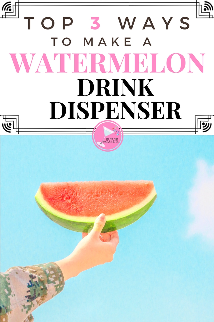 Add some fun to your next picnic or summer party with this easy and refreshing watermelon drink dispenser. It can be used for non-alcoholic beverages or refreshing summer cocktails. I've curated my top 3 favorite how-to videos that include watermelon drink recipes, ranging from easy to advanced. (Hint-1 even explores using an ax! Thanks, Tipsy Bartender) However, you make this watermelon keg, it's it's sure to be a showstopper that your family and friends will love!