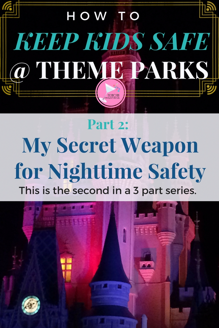 Keeping kids safe at a festival or theme park (like Walt Disney World and Universal Studios) can be a big worry, especially when those places are so crowded! But don't worry, I've been there and in this 3 part series, I've put together my favorite simple solutions to keep the whole family safe and ready for an awesome time! In Part 2, I share my secret weapon for keeping kids safe at night. It literally was a life saver for us!