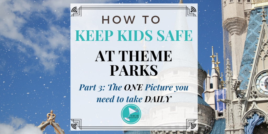 Keeping kids safe at a festival or theme park (like Walt Disney World and Universal Studios) can be a big worry, especially when those places are so crowded! But don't worry, I've been there and in this 3 part series, I've put together my favorite simple solutions to keep the whole family safe and ready for a great vacation! In Part 3, I share the ONE picture you must take daily to keep your kids safe on vacation.