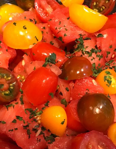 3 Ingredient Tomato Watermelon Salad