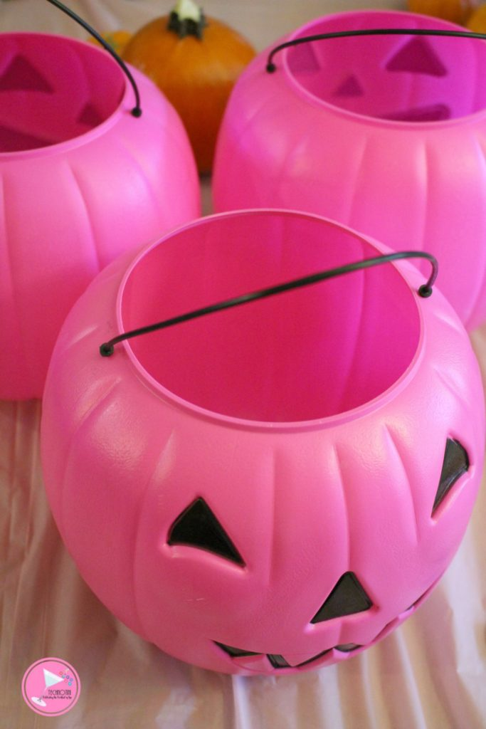 this diy pink pumpkin topiary is a fun and easy way to show off your support