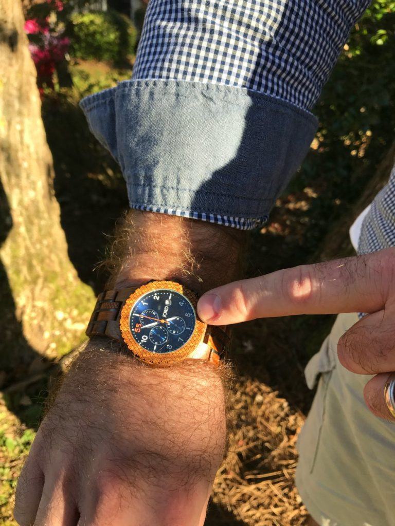 The Jord mens chrono wood watch is a wonderful timeless gift this holiday season. It's a luxury watch at an affordable price. These chronographic wood watches for men are have a universal fit making them comfortable for both right and left-handed people.