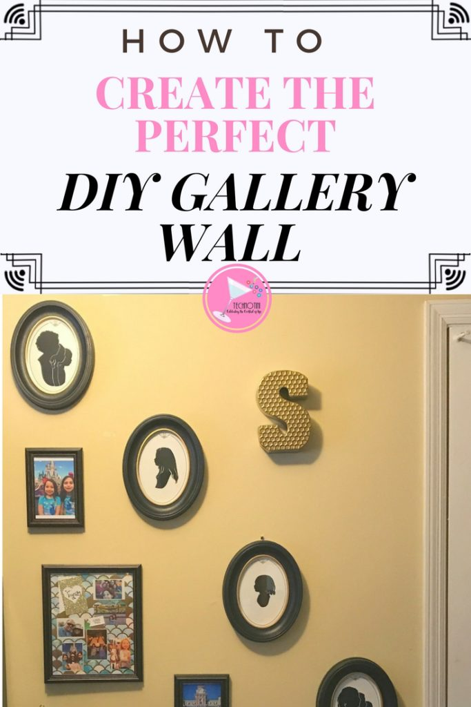 Create the perfect DIY Gallery Wall for your home with 5 easy steps.  These tips will help you seamlessly incorporate any design style from farmhouse chic, modern, rustic luxe, to feminine glam; whatever your home décor style. #Sponsored
