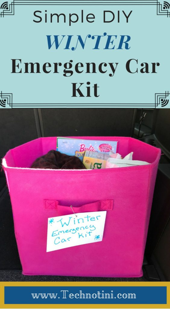 (Sponsored) Preparing for unpredictable winter road conditions is easy with a simple DIY winter emergency car kit. Winter weather can turn bad on a dime and it's important to have an emergency kit in case you get stranded—no matter where you live. Check out my top tips—number 9 is my favorite. #winterstormprep #carkits