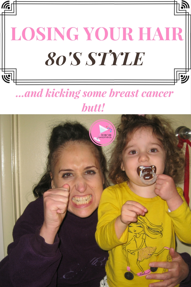 When I was going through breast cancer treatment, I decided to face it head on and share my experiences with my daughters and try to have fun with it.  Look Cancer right in the and kick some butt.