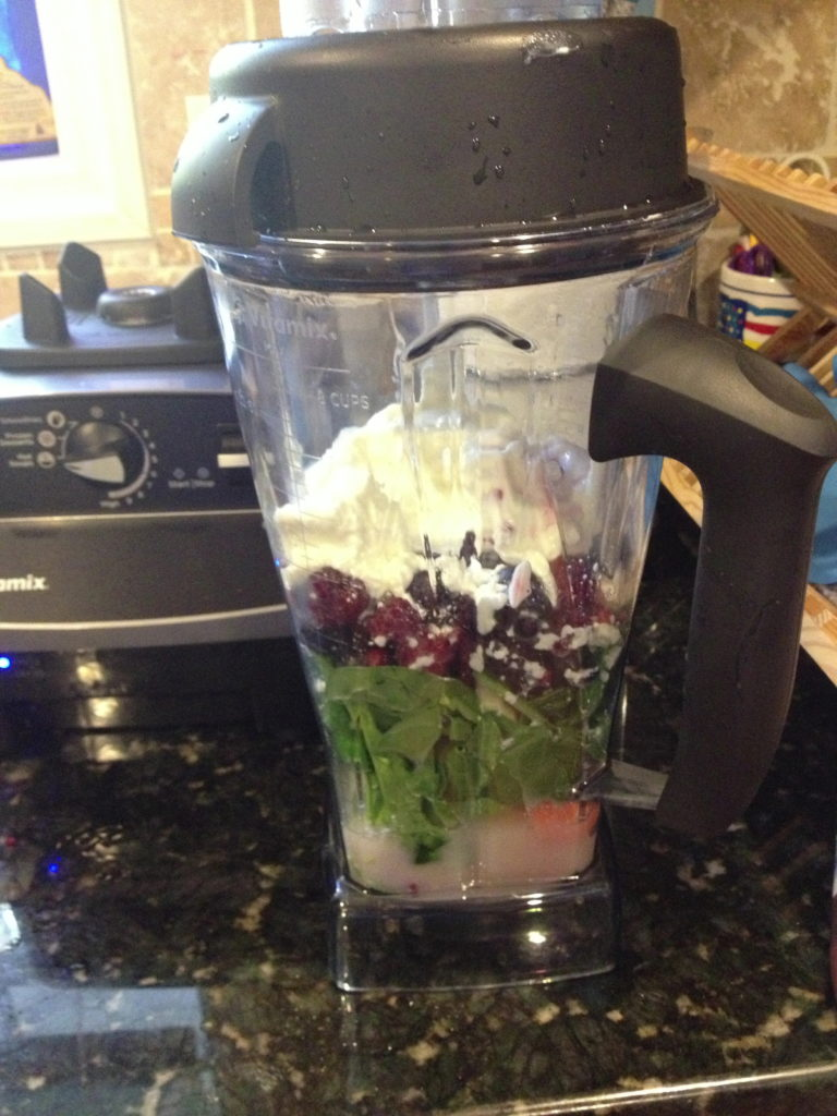 Green Smoothie about to be Vitamix'd!