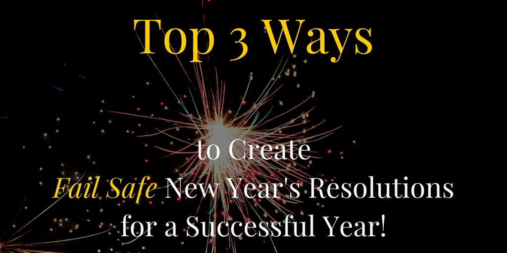 Keeping New Years Resolutions can be tricky.  Try these 3 simple tips this year for Fail Safe resolutions that won't let you down!  Trust me, I use them myself and they help me stay focused, balanced and happy instead of resentful and deprived.  By the way, #3 is my favorite #tip #NewYearsResolutions