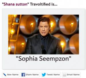 Shana Sutton Travoltified