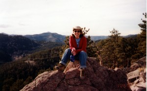 Shana at the summit of Mt. Sineatas