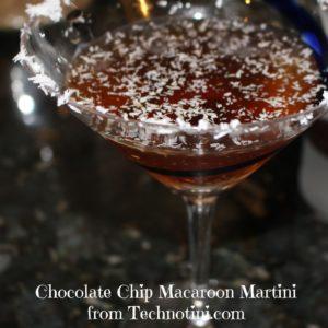 chocolate chip macaroon martini