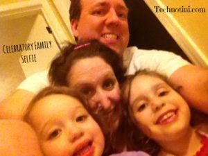 Celebratory Family Selfie