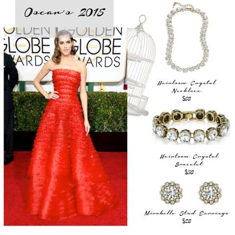 I've curated some great pics straight off the red carpet styled with amazing (and affordable) pieces currently available from Chloe and Isabel.