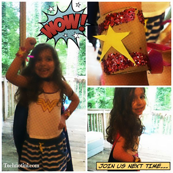 These easy, DIY Wonder Woman cuffs are simple to make and kid-friendly. Plus, they won't fall of your little super hero's wrists. Read my tips and tricks to see why! Super Hero crafts   Kid crafts  upcycled crafts