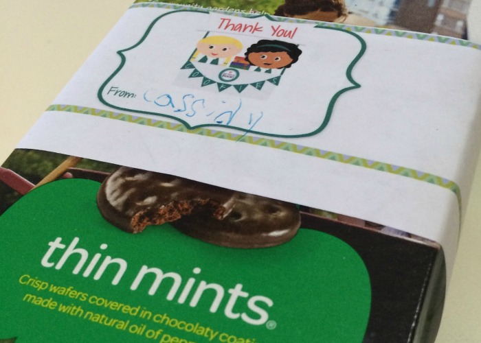 Tips and tricks for easy and fun DIY Girls Scout Cookie Sales thank you notes and labels. The labels can be used as a box wrapper or personalized bag closure. Bonus-tips for easy DIY thank you card creation. Daisies | Brownies | Girl Scouts