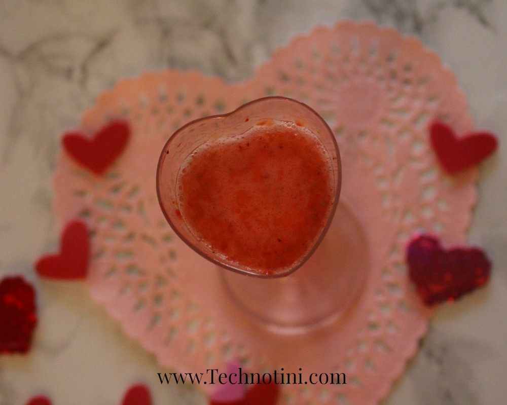 The Pink Kiss cocktail combines the decadent flavors of chocolate and cinnamon with the refreshing notes of fresh raspberry puree. It's light yet luxurious and special. This drink recip is perfect for Valentine's Day, Breast Cancer Awareness Month, or just any day you want to celebrate something with a kiss.