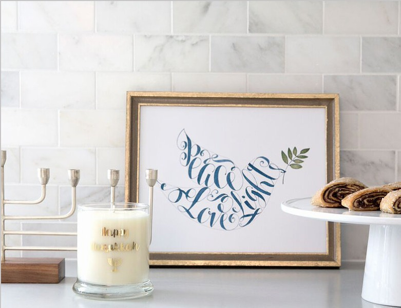 Gone are the days where you need to DIY your own Hanukkah decorations.  In 4 easy steps, I'll show you how to style your home with Haute Hanukkah Décor that is fun, functional, and family-friendly! It's easy, no muss, no fuss, just festive and light.