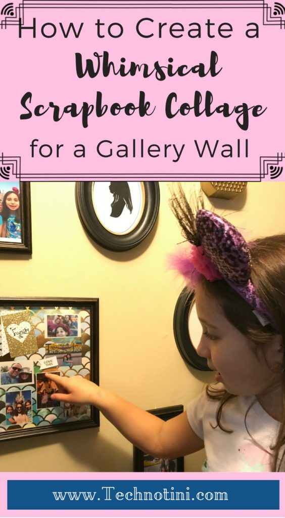 Make a whimsical Scrapbook Collage framed piece of art for your gallery wall using the Polaroid Zip Printer. Using an instant print tool makes the process super easy and fast. It's a great way to get your memories off your phone and printed in a fun manner super quickly! Check out my tips to make this collage even easier. My fave is tip with Step #3. #gallerywall #scrapbook