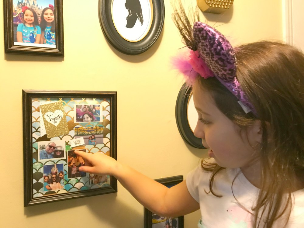 Make a whimsical Scrapbook Collage framed piece of art for your gallery wall using the Polaroid Zip Printer. Using an instant print tool makes the process super easy and fast. It's a great way to get your memories off your phone and printed in a fun manner super quickly! Check out my tips to make this collage even easier. My fave is tip with Step #3. #gallerywall #scrapbook #affiliate