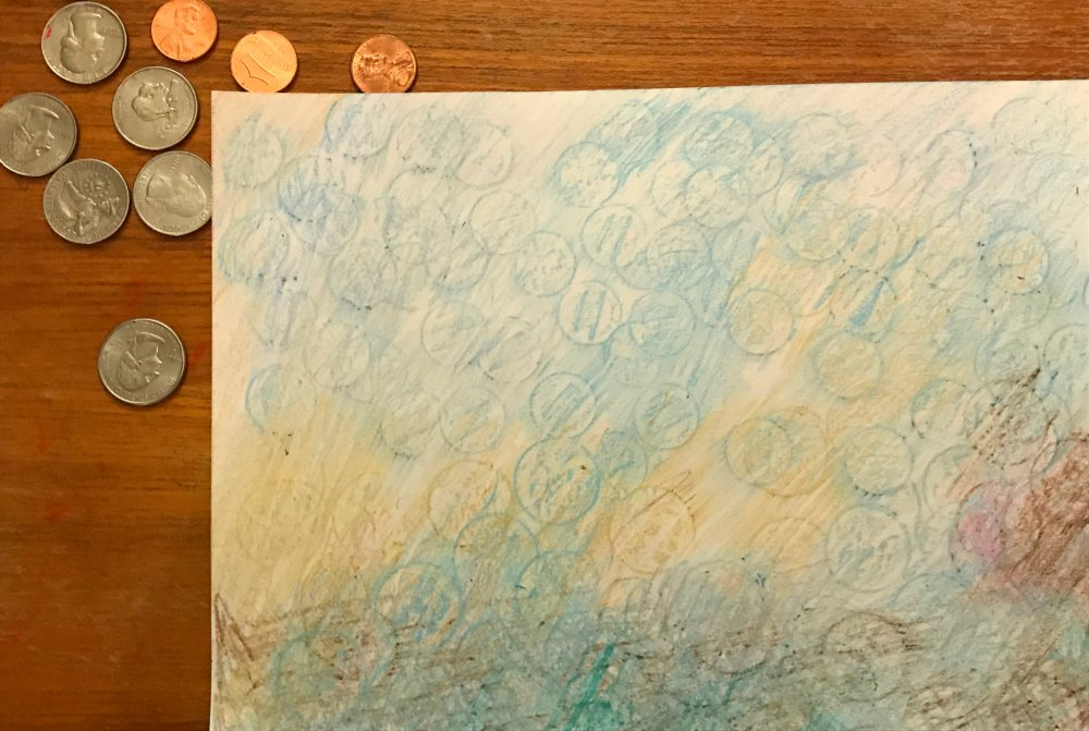 Coin rubbings for President's Day is a great activity for kids. It lets you explore Presidential history, Math, and state geography and history in a fun colorfully creative manner. #PresidentsDay