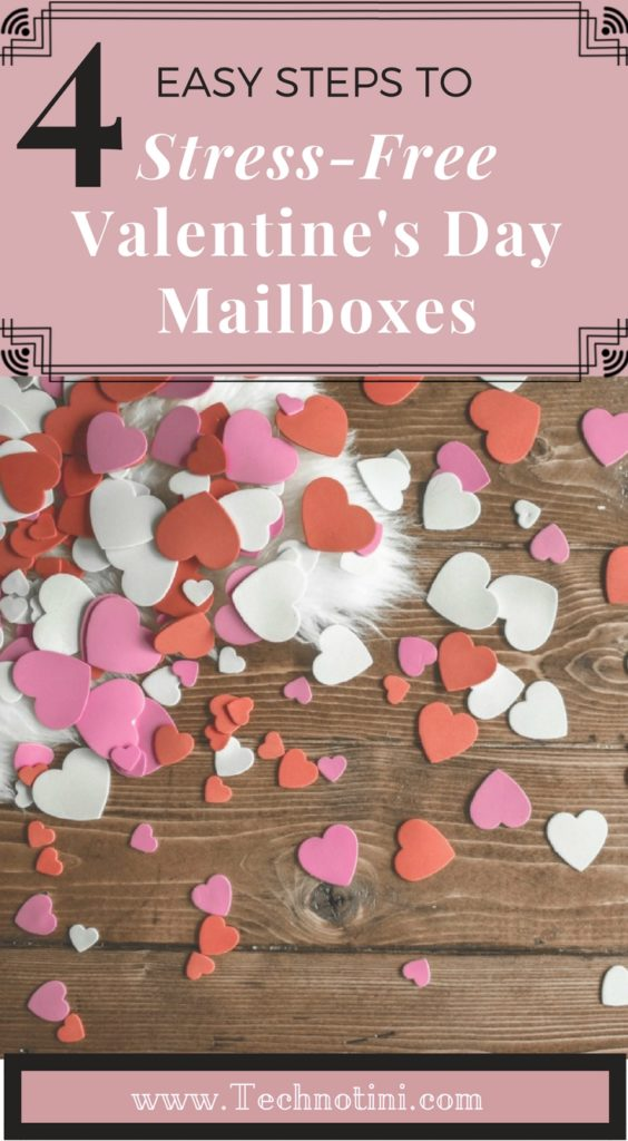 Stressed out by Valentine's Day Mailbox pressure? Don't buy a pre-made mailbox for school, instead read my Top 4 Tips for Stress-free Valentine's Day mailboxes for the Busy Mom. These timesaving and mess-free valentine mailbox ideas will totally help your sanity! #Valentinesday