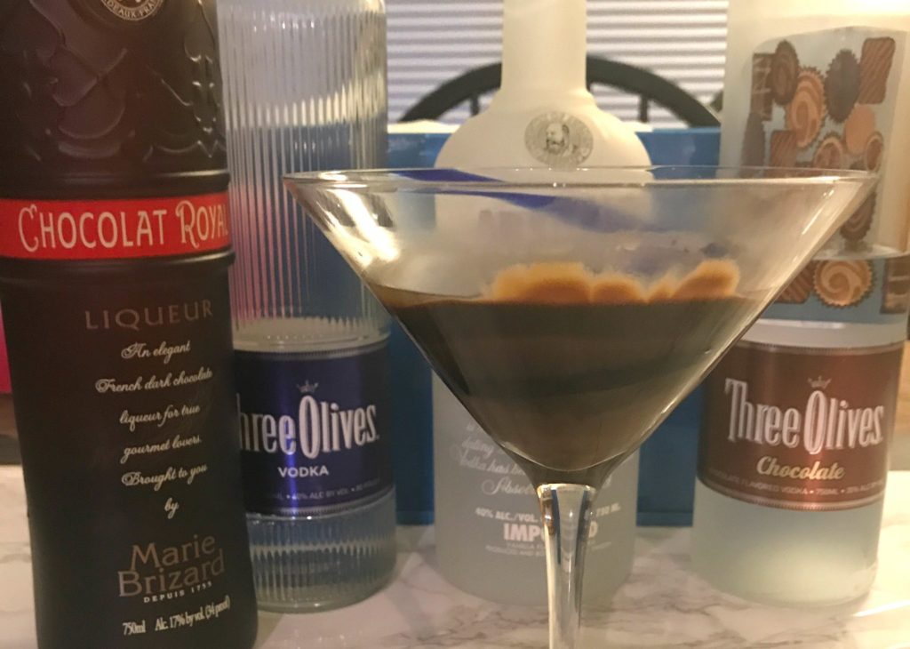 I'm mixing up my favorite chocolate martini 3 ways to satisfy the chocolate lover in all of us. These simple recipes only use 2 ingredients each and can be made really quickly. Check out my bonus tips for creating the perfect chocolate garnish. #cocktails