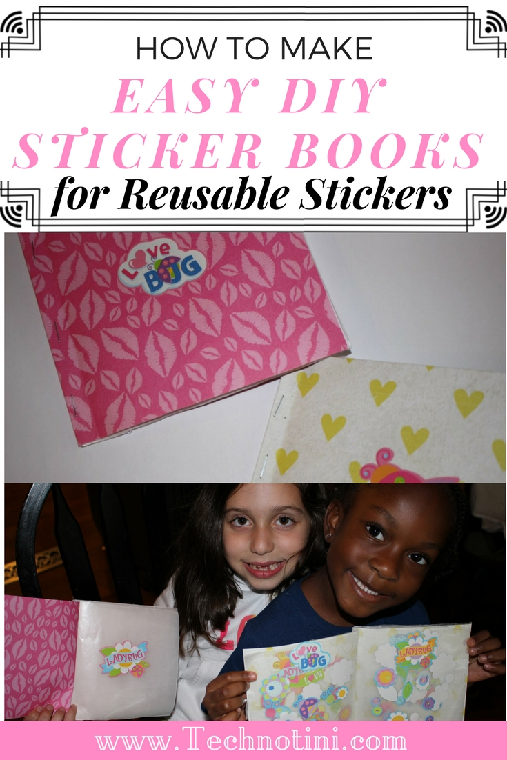 These DIY sticker books are super fun for kids to make and enjoy. The wax paper allows them to remove the stickers easily so they can play with them over and over again. It's also great for reward stickers or reusable stickers! #craftsforkids #DIYstickerbooks