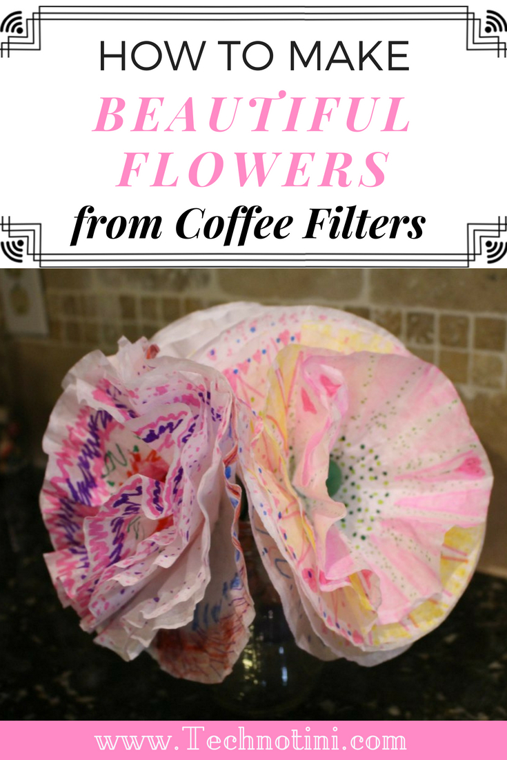These beautiful coffee filter flowers are a great craft for all ages and levels. It's simple and fun and no two flowers are alike. Be sure to check out my tips to make it even easier. They're perfect for Mother's Day, Teacher Appreciation, baby showers, bridal showers, birthdays and more. #easyflowercrafts #kidscrafts #paperflowers #coffeefilterflowers